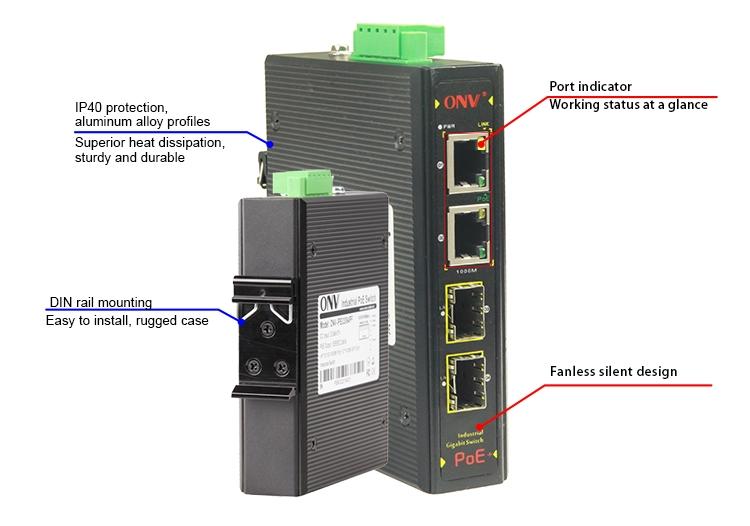 4-port industrial PoE switch,gigabit industrial PoE switch, industrial switches