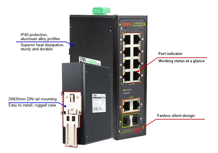 10/100m managed industrial PoE switch, industrial PoE switch, industrial switch