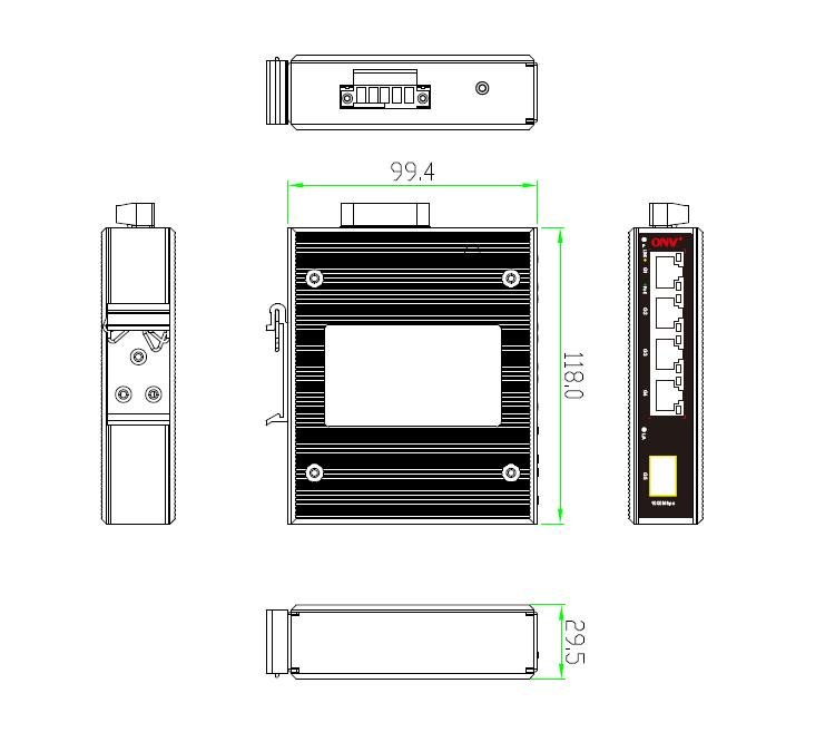 5-port gigabit industrial PoE switch, industrial PoE switch, industrial switch