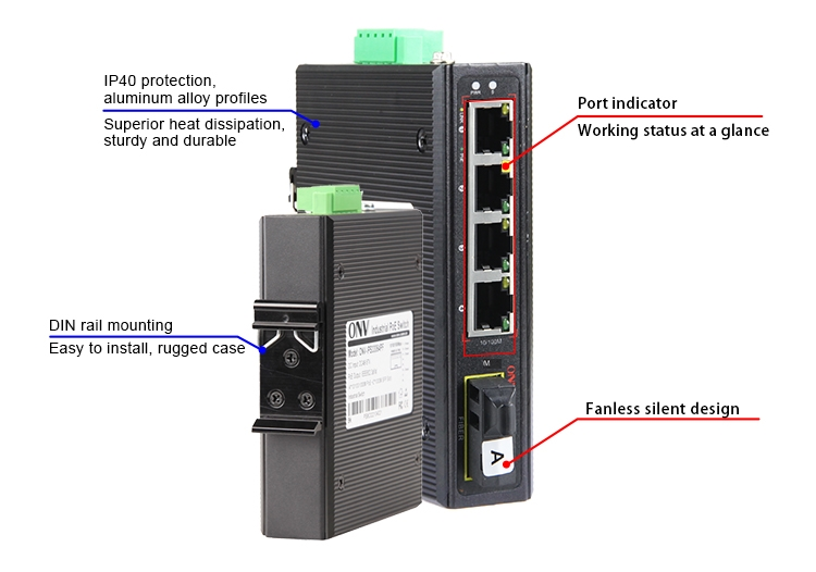 5-port 10/100M industrial PoE switch,industrial PoE switches,industrial switch
