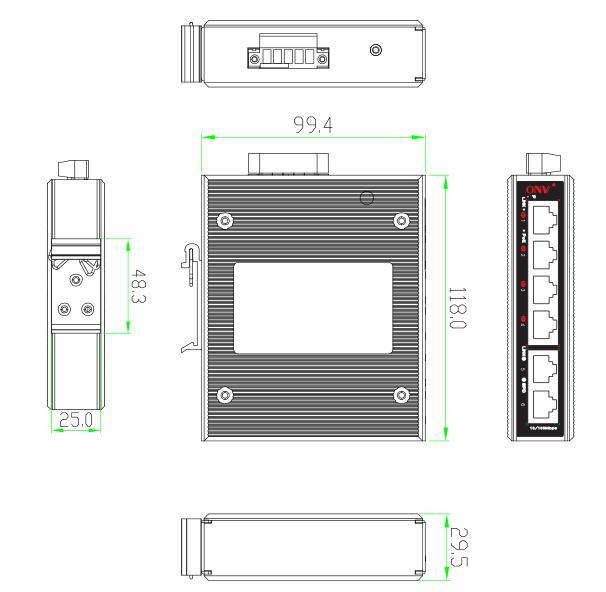 6-port gigabit bt industrial PoE switch,bt industrial PoE switch