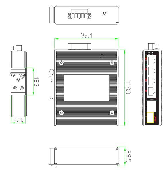 6-port gigabit uplink bt industrial PoE fiber switch, bt industrial PoE switch