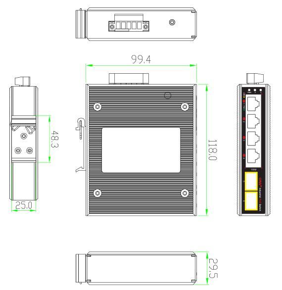 6-port 10/100M bt industrial PoE fiber switch,bt industrial PoE switch