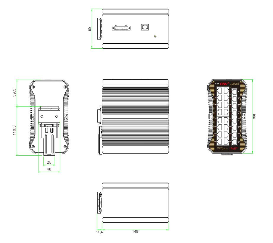24-port gigabit managed industrial PoE switch,industrial PoE switch