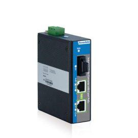 IPMC100-1GF-2GPOE   Bộ chuyển đổi Quang điện hỗ trợ 2 cổng Gigabit PoE công nghiệp và 1 cổng Gigabit
